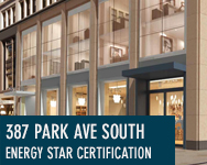 387 Park Ave South Energy Star Certification, New York, NY